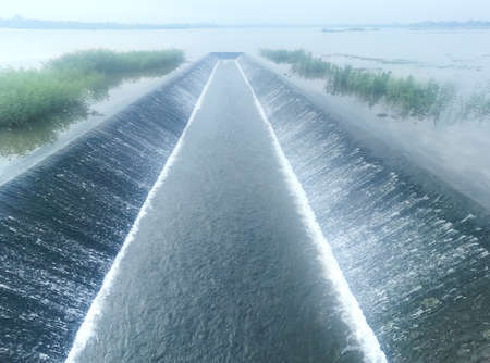 The amount of water in irrigation during the rainy season Foto de archivo