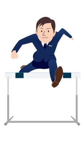 Beyond hurdles. Illustration