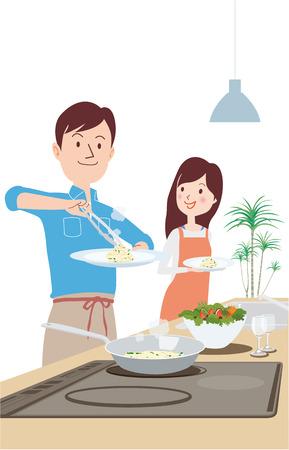 Boasted dishes illustration. Illusztráció