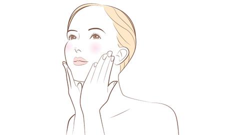 Beautiful skin isolated illustration on white background
