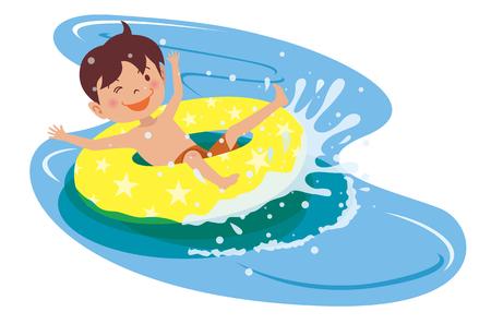 Water slider isolated illustration on white background