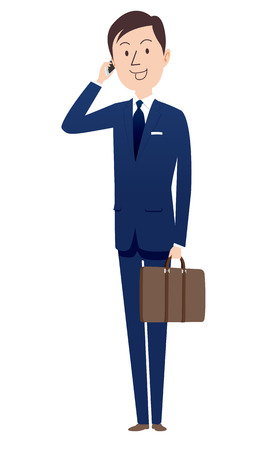 Businessmen calling Vector illustration isolated on white background. Illusztráció