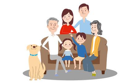 Drie generaties ingesteld beeld, geïsoleerd op een witte achtergrond Vector Illustratie