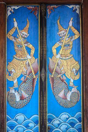 liberal: thai tample doors Stock Photo