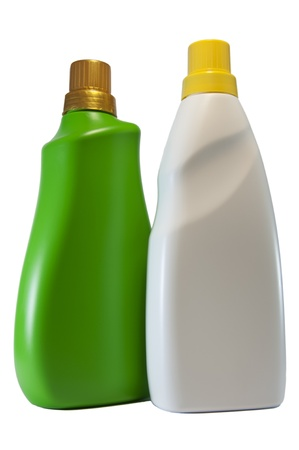 Isolate of Laundry kit bottle on white blackground photo