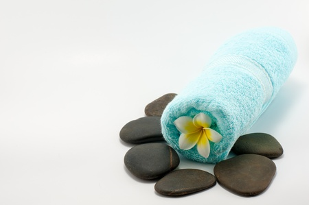 Close up of Towel and Stone represent Spa photo