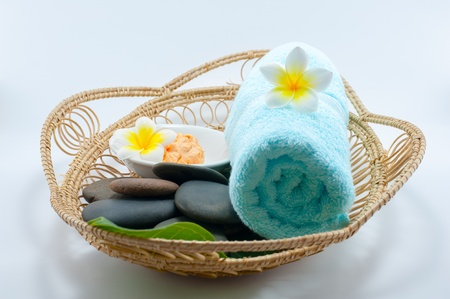 Close up set of oriental spa in the basket Stock Photo - 13884564