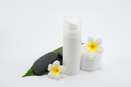 Close up of natural treatment essense products Stock Photo - 13884545