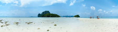 unseen: Panoramic view of eparated Sea at Krabi, One of Thailands unseen highlights Stock Photo