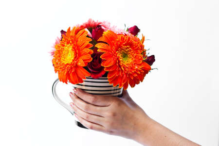 Vase of the many colorful flowers combined together. Stock Photo - 8688339