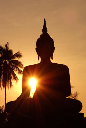 Ancient Buddha images in Sukhothai Historical Park, Thailand Stock Photo