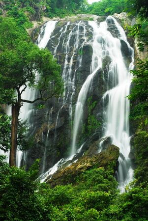 the famous waterfall in kamphaeng phet province