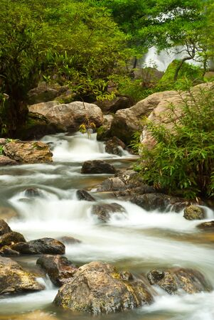 The famous waterfall in Kamphaeng Phet province. Stock Photo
