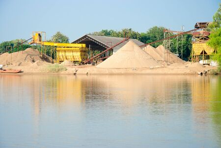 construction sand quarry mountain installation machinery photo