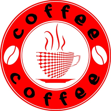 Logo for coffee shop  Illustration