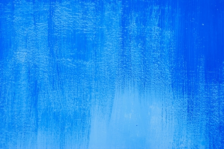 Wall with blue paint.