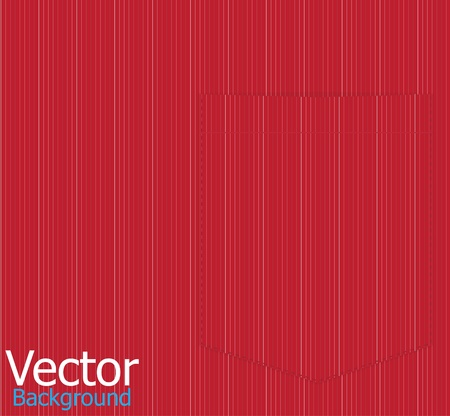 Red striped shirt pocket  Vector background