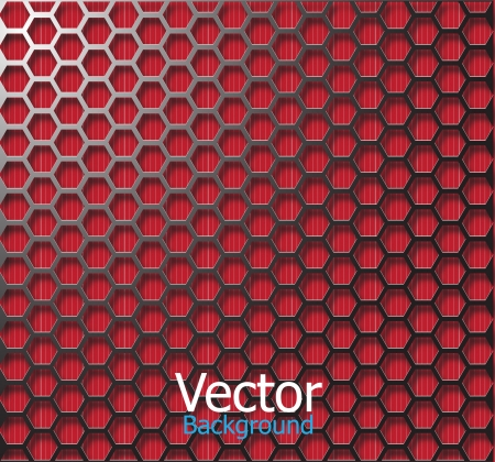 Wire frame mesh black red background.