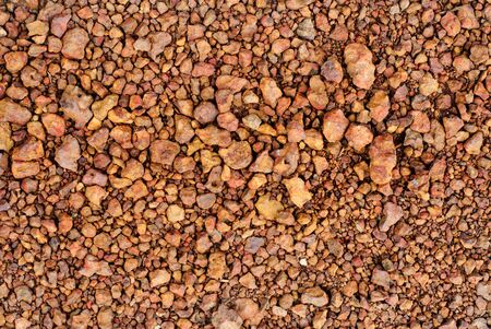 grid gravel background with different shapes of rocks