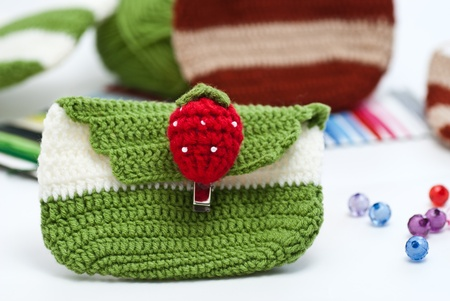 Crochet. Hobby. Crocheted motifs of cotton.