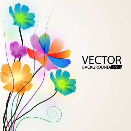 Background of colorful flowers Stock Vector - 18783592