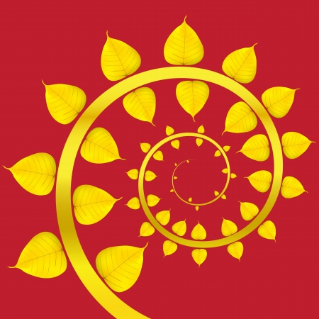 Vector Baipo gold on a red background. Vector