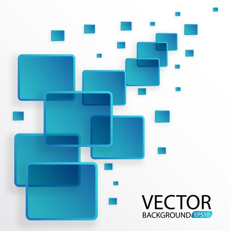Rectangle blue abstract background