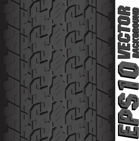 Illustration background pattern of black tire. Vector