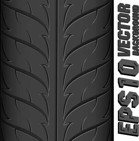 tread: Illustration background pattern of black tire. Illustration