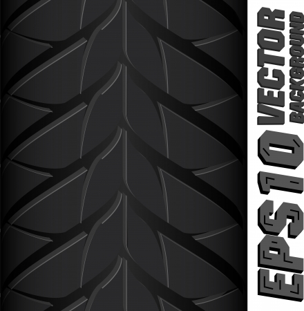dirt bike: Illustration background pattern of black tire. Illustration