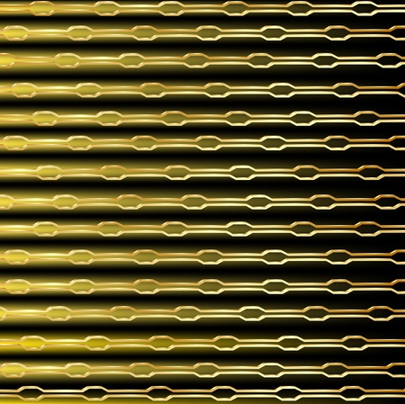 The gold metal honeycomb pattern.