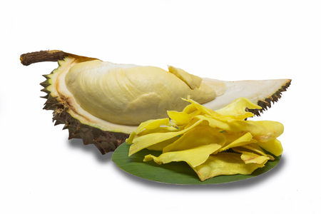 durian frito y durian Foto de archivo