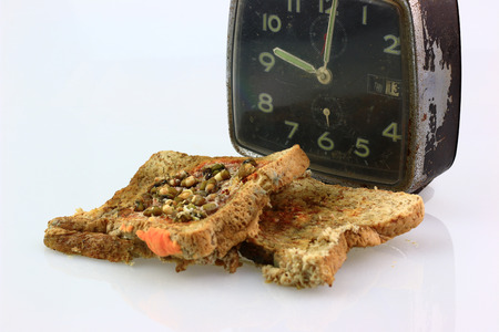 bread expire and fungus,toxin on isolate background