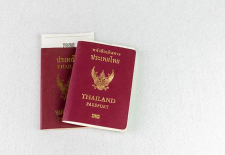 Thailand passport on isolate background