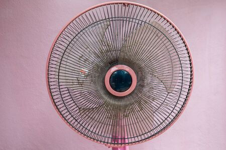 Dust on cover electric fan it dirty and make effect on air, allergy on healthy 스톡 콘텐츠