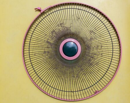 Dust on cover electric fan it dirty and make effect on air, allergy on healthy Stok Fotoğraf