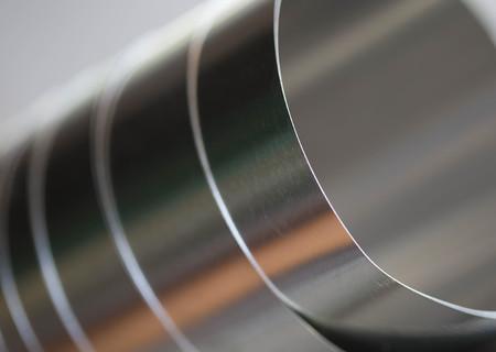 Aluminum sheet Standard-Bild