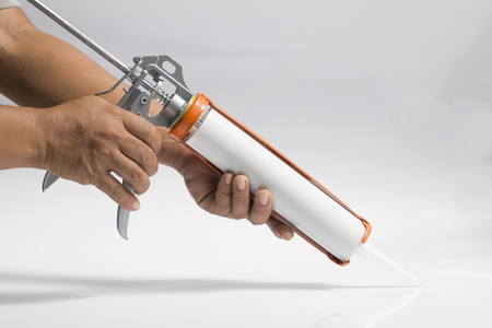 Gun with silicon white background
