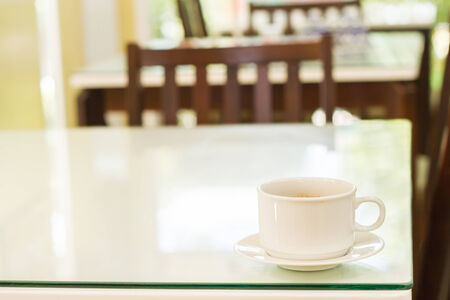 cappaccino: Coffee cup on the table Stock Photo