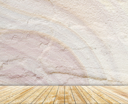 slabs: sandstone  wall and wood slabs arranged in perspective texture background.