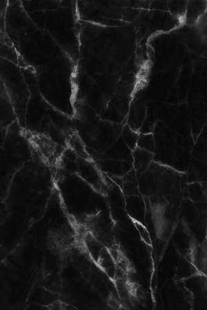 Black marble high resolution, abstract texture background in natural patterned for design. Stock Photo
