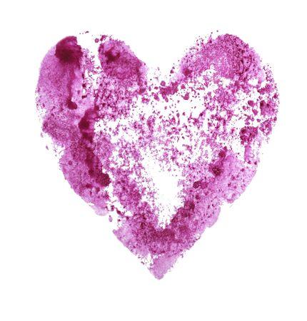Pink heart on a white Foto de archivo - 133754175