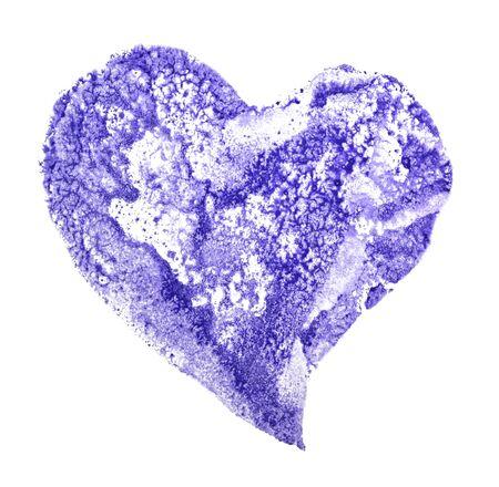 Frozen blue heart on a white