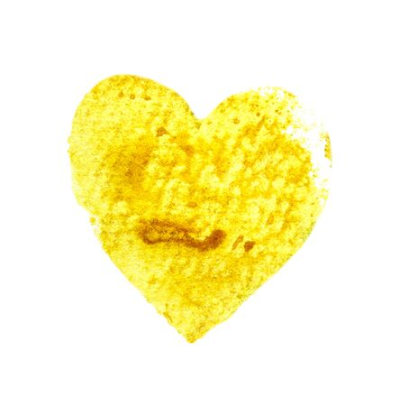 Yellow heart like cookies or chips. Banco de Imagens