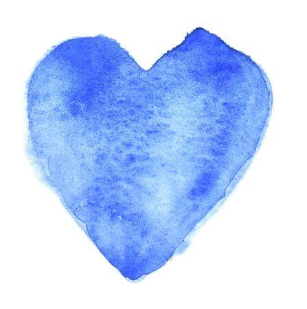 The heart of blue on a white Foto de archivo - 133754183