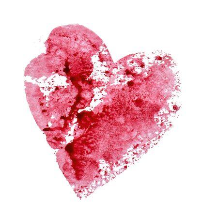 Raspberry red heart on a white Foto de archivo - 133754187