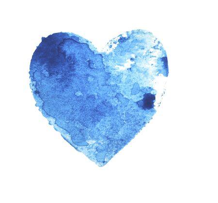 The heart of blue on a white Foto de archivo - 133754189