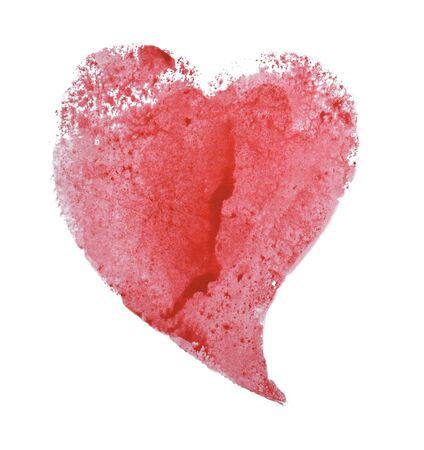 Red heart on a white Foto de archivo - 133754130