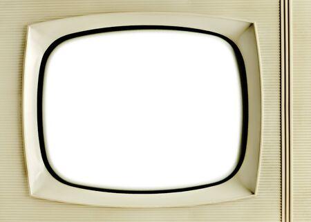 vintage television: Old vintage television with blank screen - grunge background