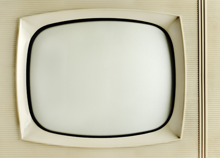 vintage television: Old vintage television - grunge background with copy space
